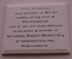 Almshouses Plaque
